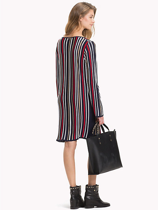 TOMMY HILFIGER Lurex Stripe Long-Sleeve Dress - SKY CAPTAIN/MULTI - TOMMY HILFIGER Dresses - detail image 1