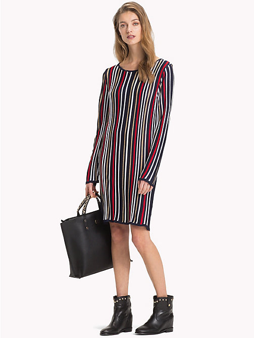 TOMMY HILFIGER Lurex Stripe Long-Sleeve Dress - SKY CAPTAIN/MULTI - TOMMY HILFIGER Dresses - main image