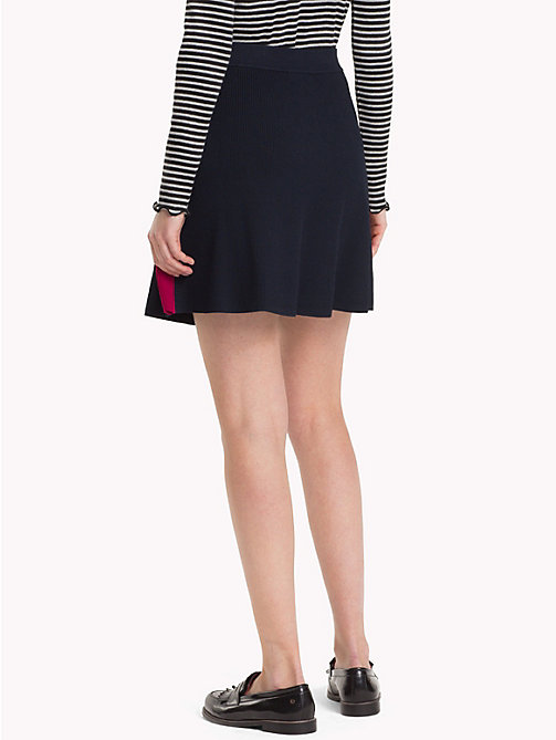 TOMMY HILFIGER Stripe Flared Skirt - MIDNIGHT - TOMMY HILFIGER Skirts - detail image 1