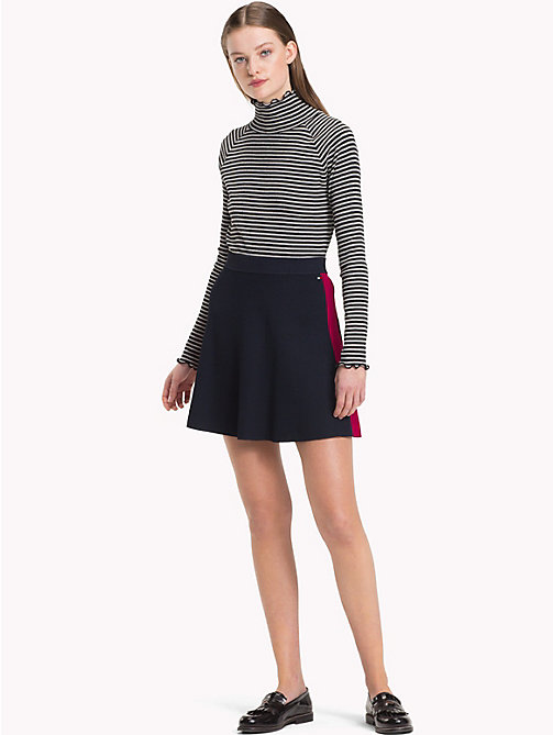 TOMMY HILFIGER Stripe Flared Skirt - MIDNIGHT - TOMMY HILFIGER Skirts - main image