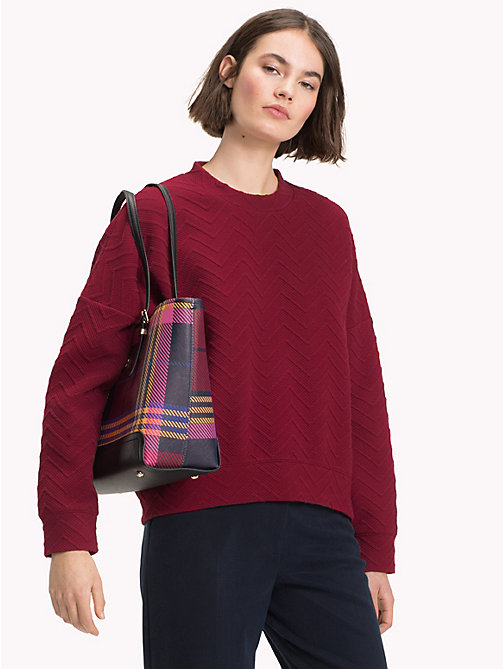 TOMMY HILFIGER Chevron Texture Jumper - CABERNET - TOMMY HILFIGER NEW IN - main image