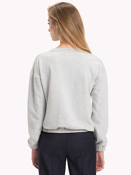 TOMMY HILFIGER Crew Neck Sweatshirt - LIGHT GREY HTR - TOMMY HILFIGER Clothing - detail image 1