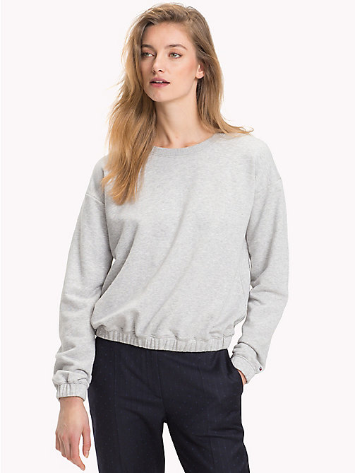 TOMMY HILFIGER Crew Neck Sweatshirt - LIGHT GREY HTR - TOMMY HILFIGER Clothing - main image