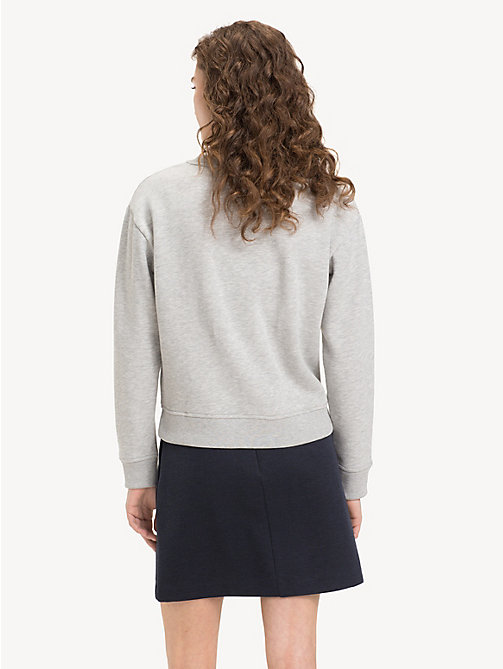 TOMMY HILFIGER Relaxed Fit Crew Neck Sweatshirt - LIGHT GREY HTR - TOMMY HILFIGER NEW IN - detail image 1