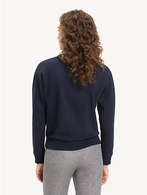 TOMMY HILFIGER Relaxed Fit Crew Neck Sweatshirt - MIDNIGHT - TOMMY HILFIGER Sweatshirts - detail image 1
