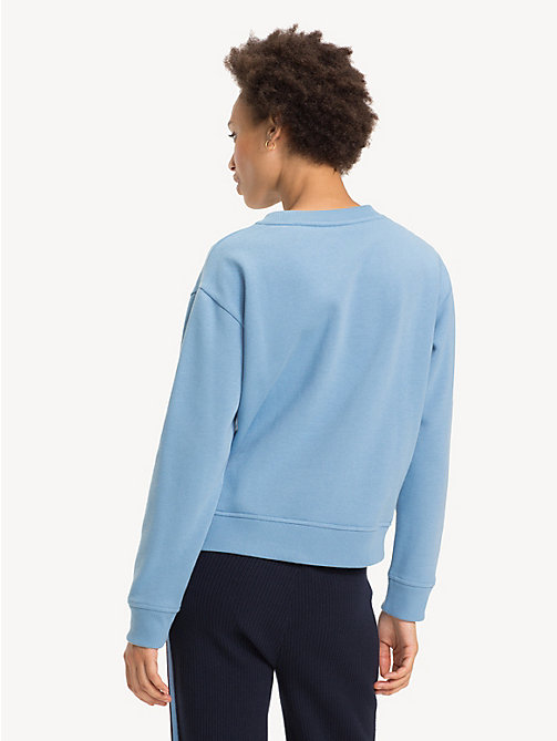 TOMMY HILFIGER Relaxed Fit Crew Neck Sweatshirt - DUSK BLUE - TOMMY HILFIGER Sweatshirts - detail image 1