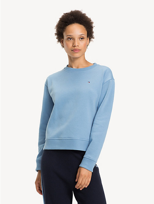 TOMMY HILFIGER Relaxed Fit Crew Neck Sweatshirt - DUSK BLUE - TOMMY HILFIGER Sweatshirts - main image