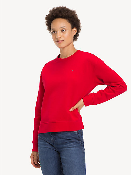 TOMMY HILFIGER Relaxed Fit Crew Neck Sweatshirt - TRUE RED - TOMMY HILFIGER Sweatshirts - main image