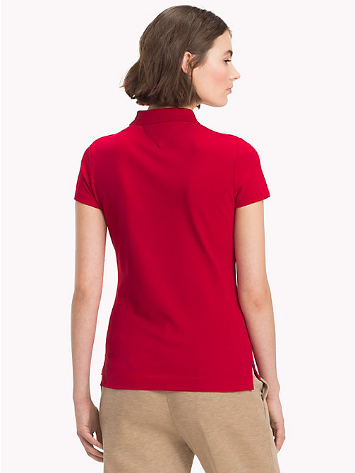 TOMMY HILFIGER Slim Fit Logo Polo Shirt - JESTER RED - TOMMY HILFIGER Black Friday Women - detail image 1
