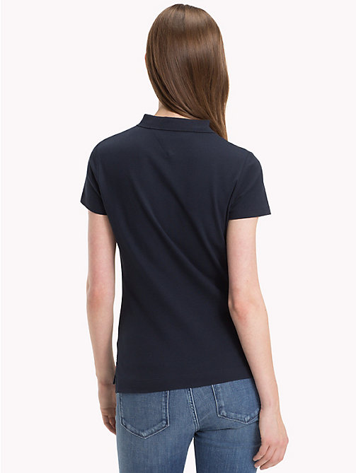 TOMMY HILFIGER Slim Fit Logo Polo Shirt - MIDNIGHT / H FOIL - TOMMY HILFIGER Black Friday Women - detail image 1
