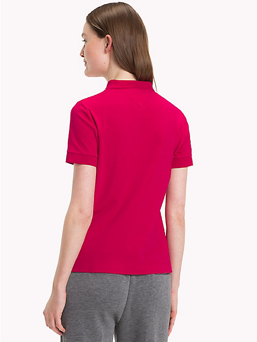 TOMMY HILFIGER Stretch Cotton Pique Polo - CERISE - TOMMY HILFIGER Polo Shirts - detail image 1