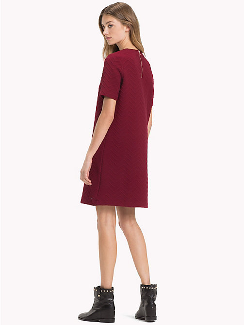 TOMMY HILFIGER Regular Fit Chevron Dress - CABERNET - TOMMY HILFIGER NEW IN - detail image 1