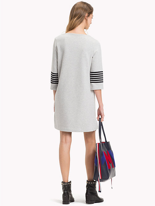 TOMMY HILFIGER Crew Neck Dress - LIGHT GREY HTR - TOMMY HILFIGER Jumper Dresses - detail image 1