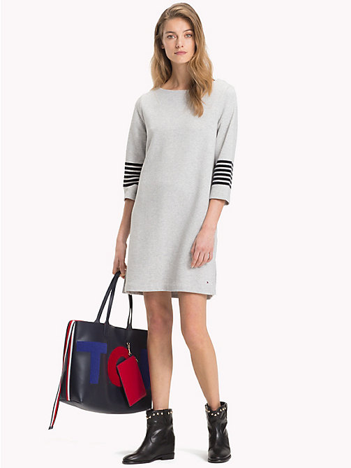 TOMMY HILFIGER Crew Neck Dress - LIGHT GREY HTR - TOMMY HILFIGER Jumper Dresses - main image