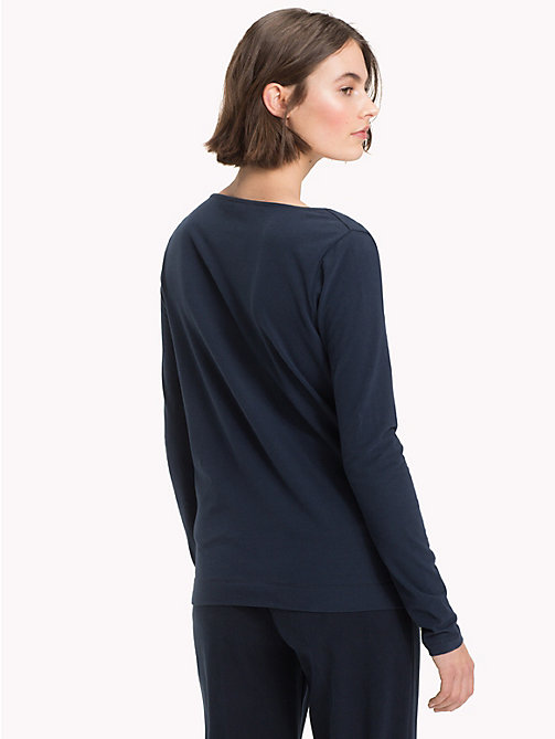 TOMMY HILFIGER Tied Shoulder Top - MIDNIGHT -  NEW IN - detail image 1