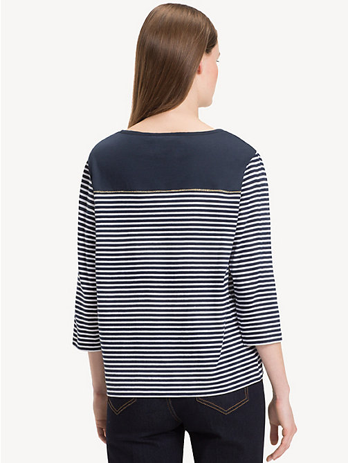 TOMMY HILFIGER Block Stripe Top - SKY CAPTAIN / CLASSIC WHITE STP - TOMMY HILFIGER NEW IN - detail image 1