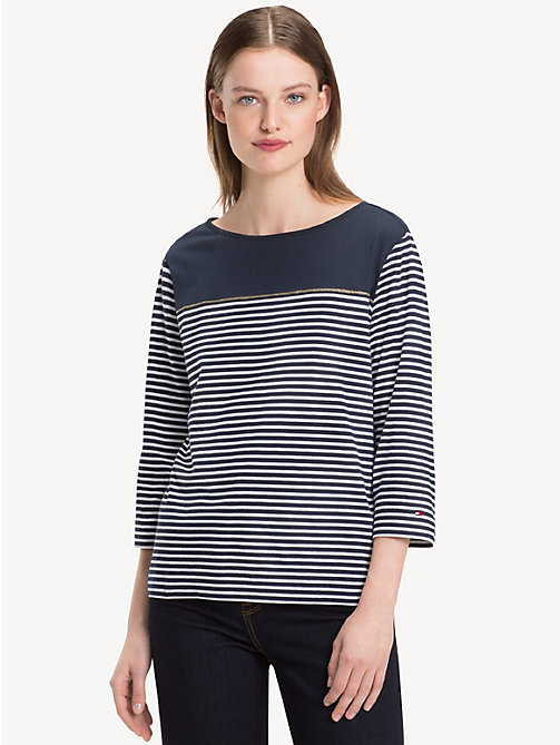 TOMMY HILFIGER Block Stripe Top - SKY CAPTAIN / CLASSIC WHITE STP - TOMMY HILFIGER NEW IN - main image