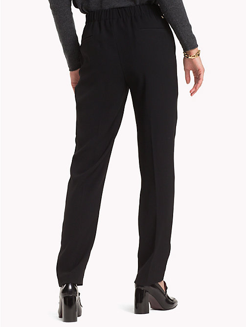 TOMMY HILFIGER Crepe Trousers - BLACK BEAUTY - TOMMY HILFIGER Trousers - detail image 1