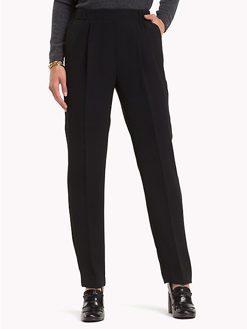 TOMMY HILFIGER Crepe Trousers - BLACK BEAUTY - TOMMY HILFIGER Trousers - main image