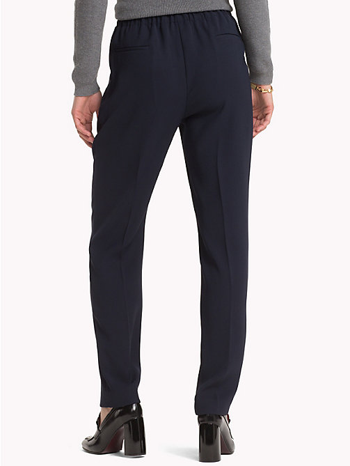TOMMY HILFIGER Crepe Trousers - MIDNIGHT - TOMMY HILFIGER The Office Edit - detail image 1