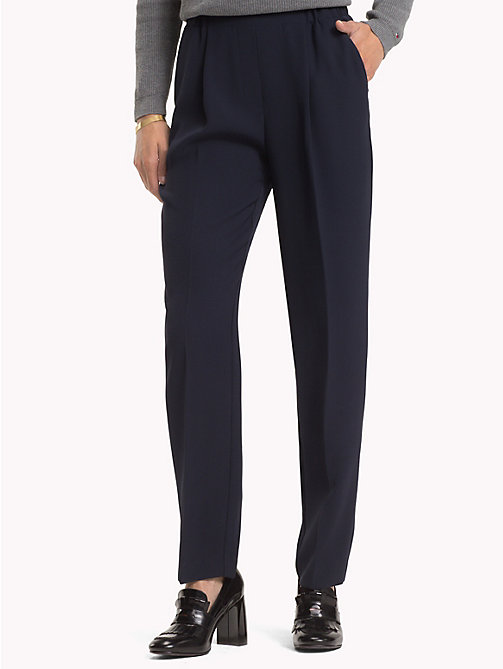 TOMMY HILFIGER Crepe Trousers - MIDNIGHT - TOMMY HILFIGER The Office Edit - main image