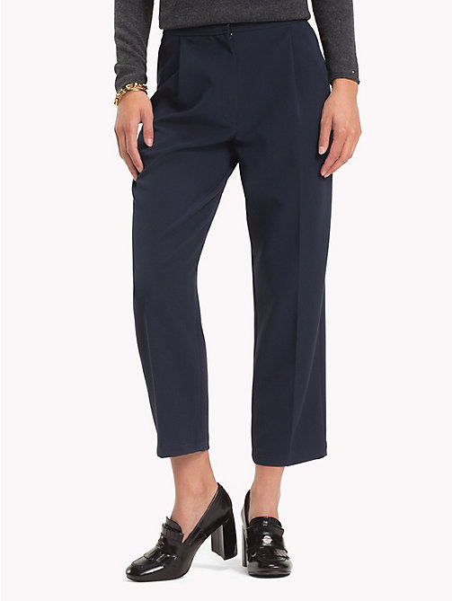 TOMMY HILFIGER Pleated Trousers - MIDNIGHT - TOMMY HILFIGER Trousers - main image