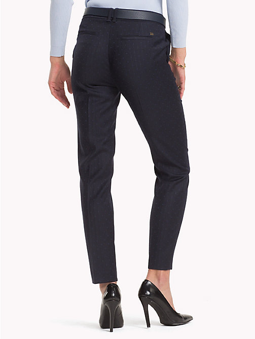 TOMMY HILFIGER Dot Print Trousers - MIDNIGHT - TOMMY HILFIGER NEW IN - detail image 1