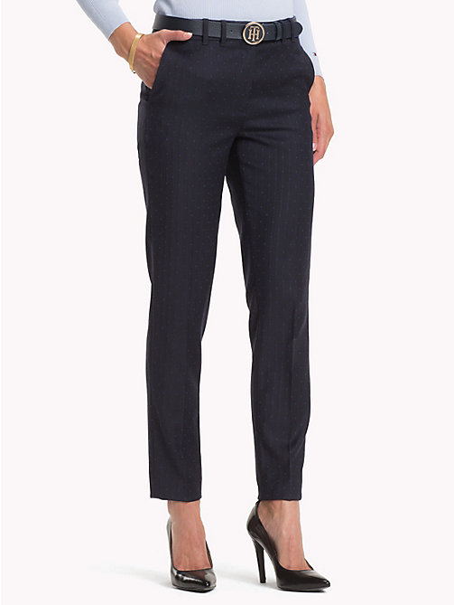 TOMMY HILFIGER Dot Print Trousers - MIDNIGHT - TOMMY HILFIGER NEW IN - main image