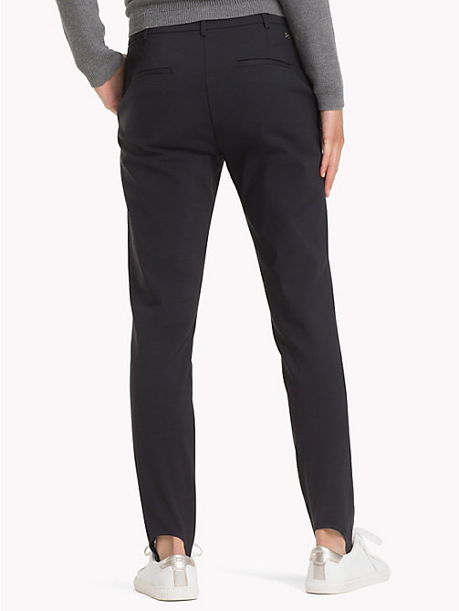 TOMMY HILFIGER High Waist Stirrup Trousers - BLACK BEAUTY - TOMMY HILFIGER The Office Edit - detail image 1