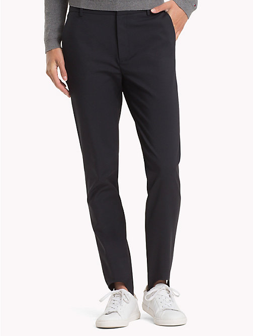 TOMMY HILFIGER High rise broek met voetlus - BLACK BEAUTY - TOMMY HILFIGER De Office Edit - main image