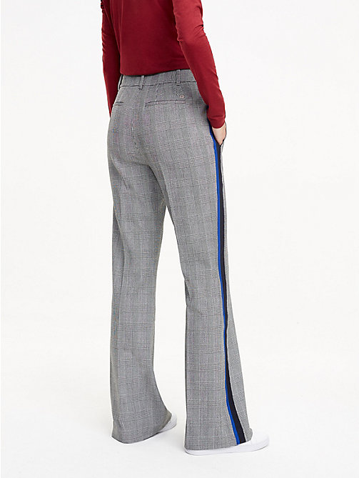 TOMMY HILFIGER Flared broek met ruiten - PRINCE OF WALES POP - TOMMY HILFIGER De Office Edit - detail image 1