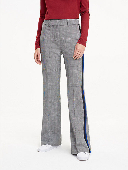 TOMMY HILFIGER Check Flare Trousers - PRINCE OF WALES POP - TOMMY HILFIGER The Office Edit - main image
