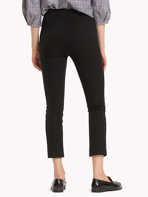TOMMY HILFIGER Stretch Slim Fit Ankle Leggings - BLACK BEAUTY - TOMMY HILFIGER Trousers - detail image 1