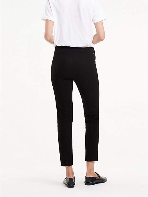 TOMMY HILFIGER High Waist Ankle Leggings - BLACK BEAUTY - TOMMY HILFIGER Joggers - detail image 1
