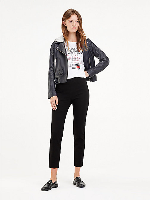 TOMMY HILFIGER Stretch Slim Fit Ankle Leggings - BLACK BEAUTY - TOMMY HILFIGER Trousers - main image