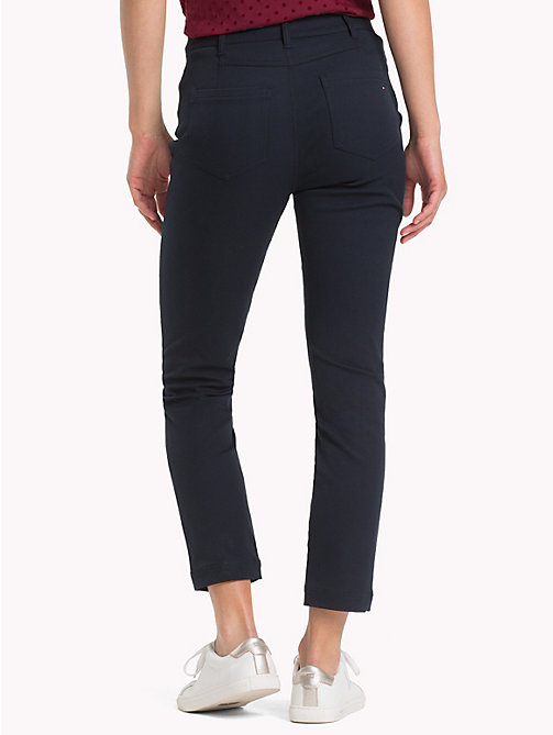 TOMMY HILFIGER Ankle Length Slim Fit Trousers - MIDNIGHT - TOMMY HILFIGER Clothing - detail image 1