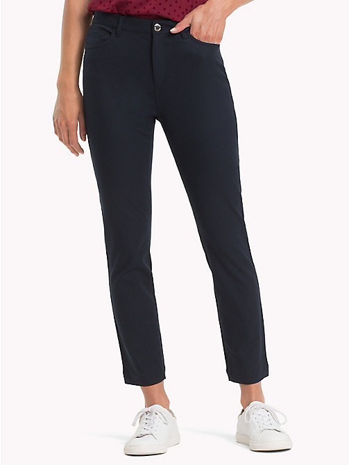 TOMMY HILFIGER Ankle Length Slim Fit Trousers - MIDNIGHT - TOMMY HILFIGER Trousers - main image