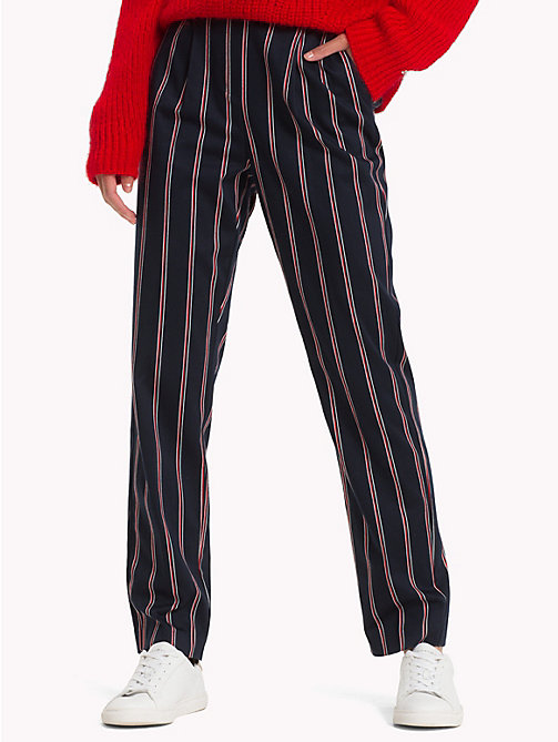 TOMMY HILFIGER Striped Pull-On Trousers - THIN BLAZER STP / SKY CAPTAIN - TOMMY HILFIGER Clothing - main image