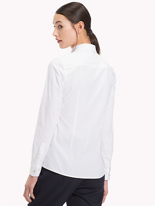 TOMMY HILFIGER Рубашка с логотипом - CLASSIC WHITE - TOMMY HILFIGER Sustainable Evolution - подробное изображение 1