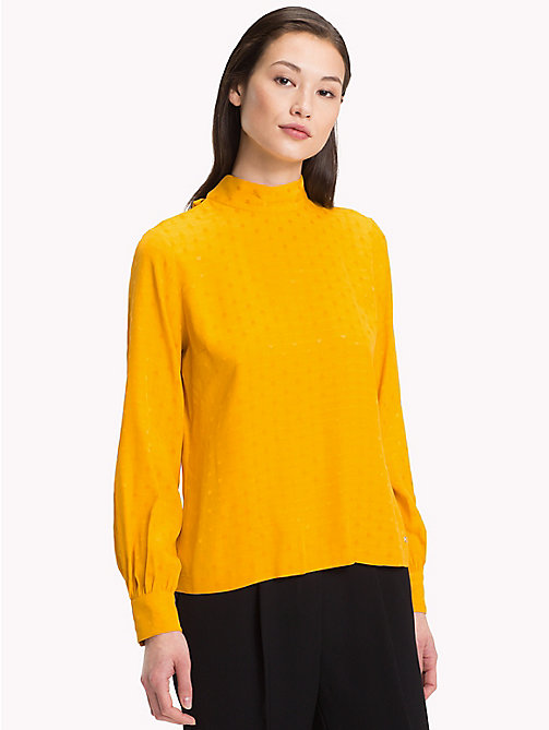 TOMMY HILFIGER Jacquard Polka Weave Blouse - SUNFLOWER - TOMMY HILFIGER Black Friday Women - main image