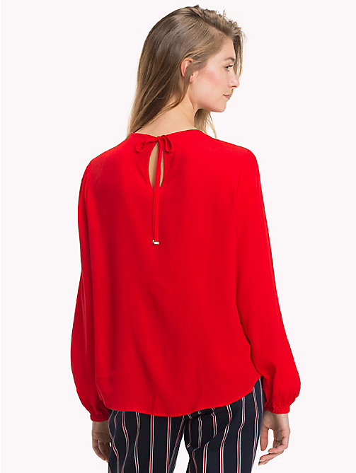 TOMMY HILFIGER Viscose Long Sleeve Blouse - FLAME SCARLET - TOMMY HILFIGER NEW IN - detail image 1