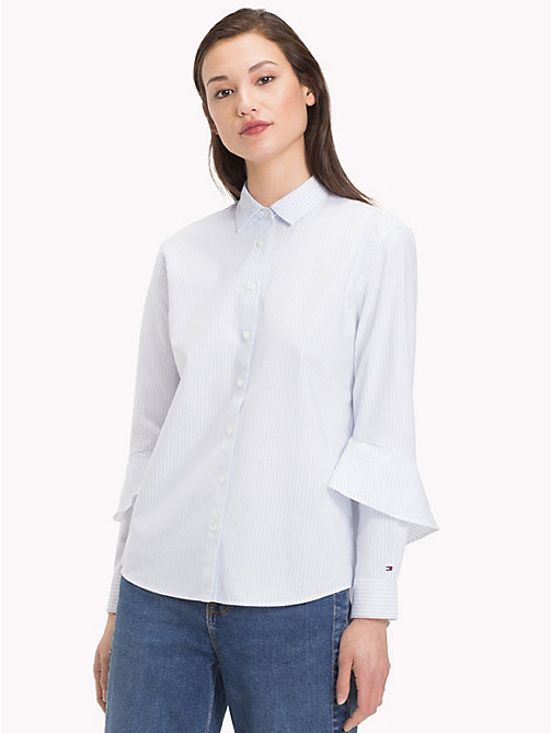 TOMMY HILFIGER Gestreepte blouse met ruches - ITHACA STP / HEATHER -  De Office Edit - main image