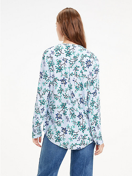 TOMMY HILFIGER Crepe Paisley Blouse - FOREST FLORAL / HEATHER - TOMMY HILFIGER Black Friday Women - detail image 1