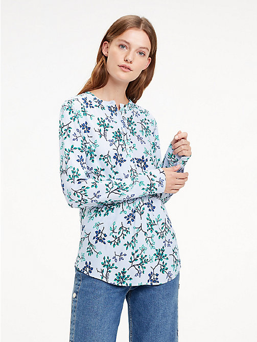 TOMMY HILFIGER Crepe Paisley Blouse - FOREST FLORAL / HEATHER - TOMMY HILFIGER Black Friday Women - main image