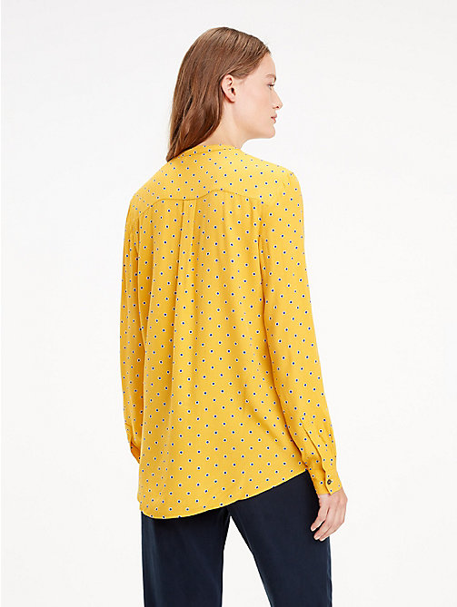TOMMY HILFIGER Crepe Paisley Blouse - OUTLINE POLKA / SUNFLOWER - TOMMY HILFIGER NEW IN - detail image 1