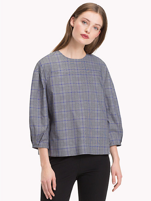 TOMMY HILFIGER Three-Quarter Sleeve Blouse - PRINCE OF WALES POP - TOMMY HILFIGER Trending - main image