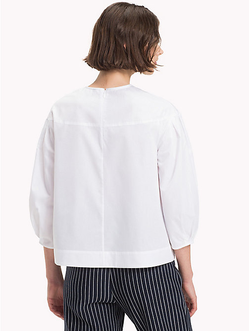 TOMMY HILFIGER Three-Quarter Sleeve Blouse - CLASSIC WHITE - TOMMY HILFIGER The Office Edit - detail image 1