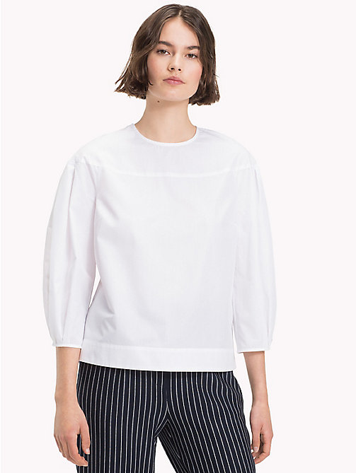 TOMMY HILFIGER Three-Quarter Sleeve Blouse - CLASSIC WHITE - TOMMY HILFIGER The Office Edit - main image