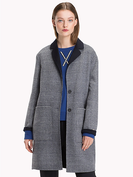 TOMMY HILFIGER Reversible Long Coat - CHECK / MIDNIGHT - TOMMY HILFIGER Coats - main image