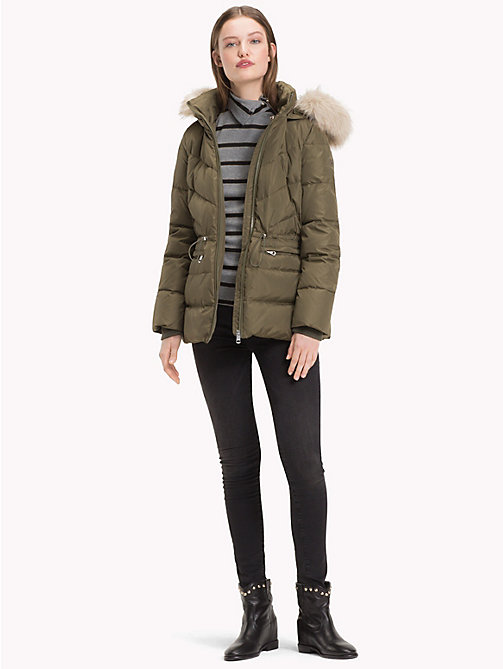 TOMMY HILFIGER Стеганая куртка на гусином пуху - OLIVE NIGHT - TOMMY HILFIGER Sustainable Evolution - подробное изображение 1